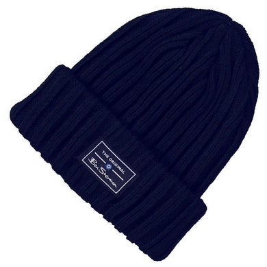 BEN SHERMAN BEANIE | NAVY BLUE HAT | GENTS CLOBBER