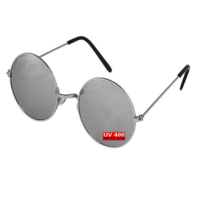 SILVER ROUND SUNGLASSES | GENTS CLOBBER