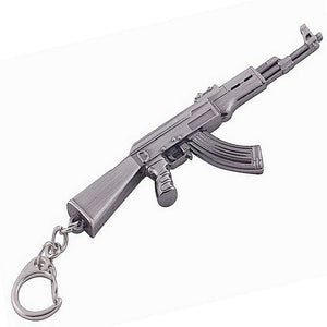 AK47 Assault Rifle Gun Metal Keyring | Gents Clobber