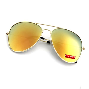 YELLOW AVIATOR SUNGLASSES | GENTS CLOBBER