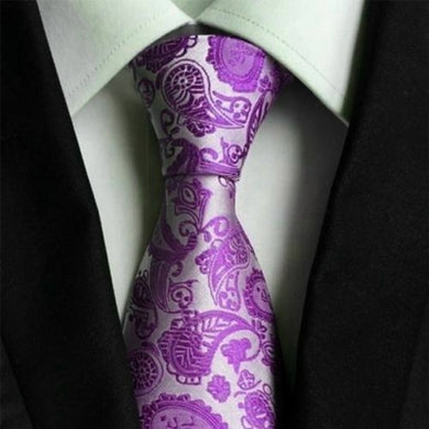 PURPLE FLORAL TIE | SILK | GENTS CLOBBER