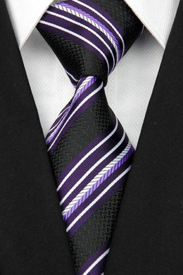 STRIPED TIE | BLACK MULTI STRIPE | GENTS CLOBBER