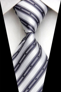 WHITE STRIPED TIE | GREY STRIPES | AFFORDABLE TIE