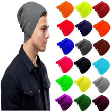 Load image into Gallery viewer, MENS BEANIE HATS | WINTER BEANIE HAT | STRETCH SLOUCH