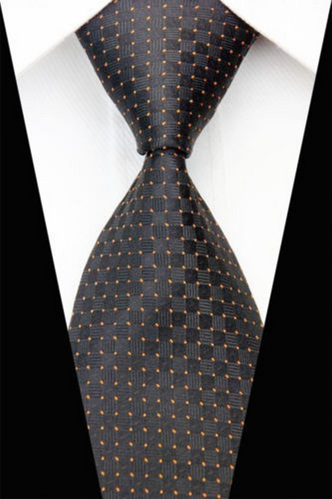 SPOT TIE | BLACK ORANGE CHECK | GENTS CLOBBER