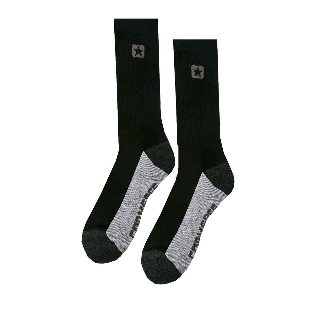 34864f0926628 Converse Mens Sports Half Cushion Crew Socks Black UK 6-11