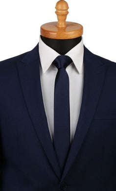 SATIN TIE | NAVY BLUE | PARTY TIE | GENTS CLOBBER