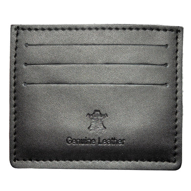 CREDIT CARD WALLET | BLACK LEATHER | GENTS CLOBBER