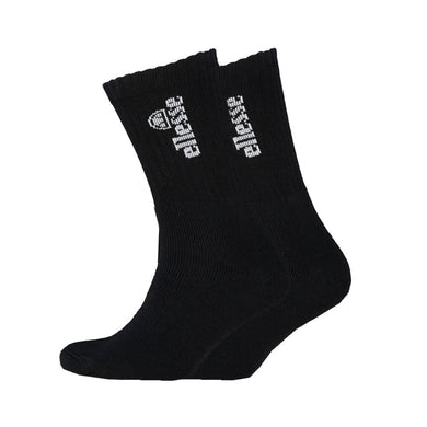 Ellesse Mens Pair Black Sports Crew Socks