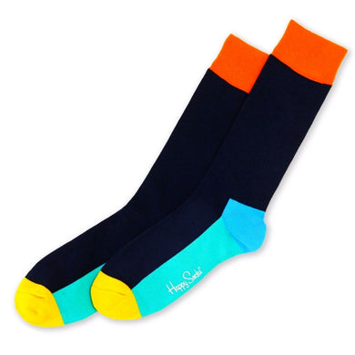 HAPPY FIVE COLOUR SOCKS | BLUE | GENTS CLOBBER