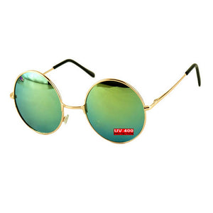 BLUE GREEN ROUND SUNGLASSES | GENTS CLOBBER