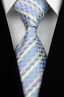 BLUE STRIPED TIE | STYLISH DESIGN | GENTS CLOBBER