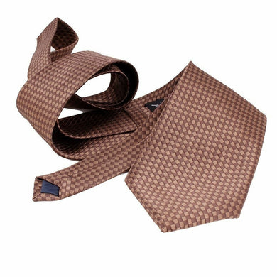 BROWN TIE | DIAMOND CHECK | GENTS CLOBBER