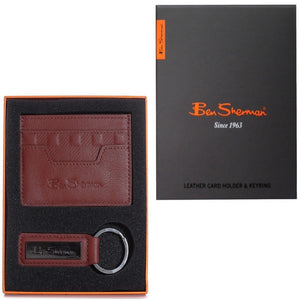 BEN SHERMAN CREDIT CARD HOLDER | KEYRING | BROWN