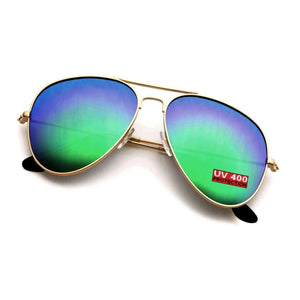 GREEN AVIATOR SUNGLASSES | GENTS CLOBBER