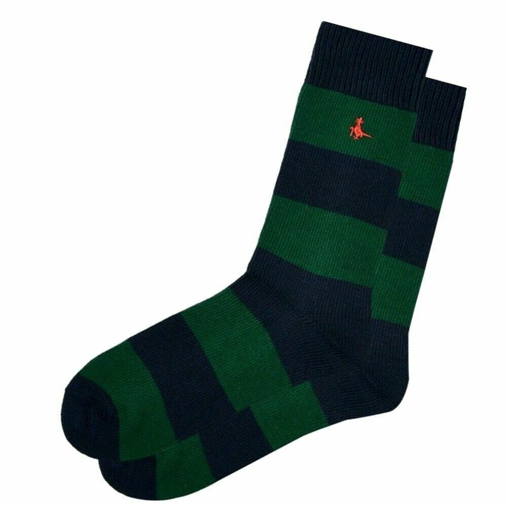 JACK WILLS SOCKS | RUGBY STRIPE | GREEN | GENTS CLOBBER