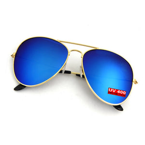 BLUE AVIATOR SUNGLASSES | GOLD FRAME | GENTS CLOBBER