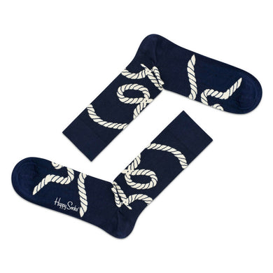 HAPPY ROPE SOCKS | NAVY BLUE | GENTS CLOBBER