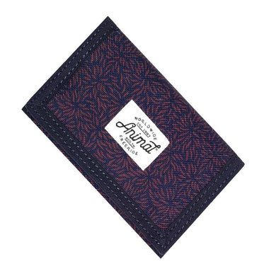 Animal Exploited Navy Blue Trifold Canvas Wallet