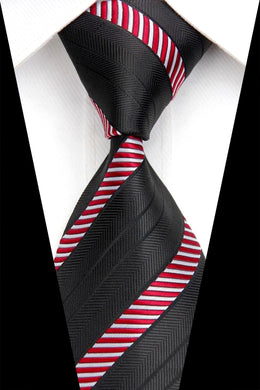 SILK TIE | BLACK STRIPED | GENTS CLOBBER