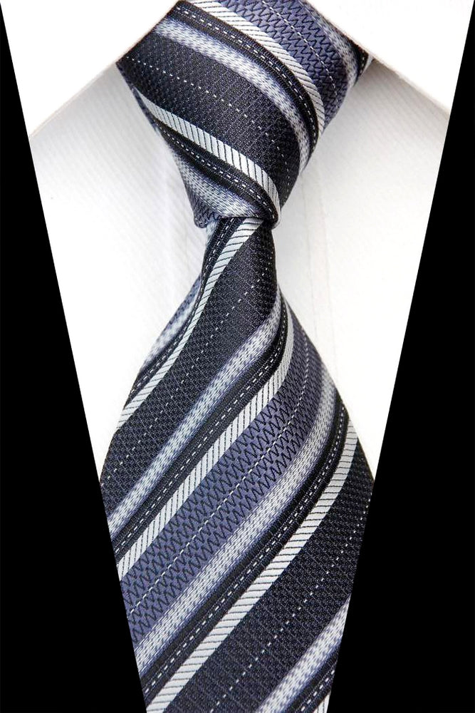 GREY MULTI STRIPED TIE | SILK TIE | GENTS CLOBBER