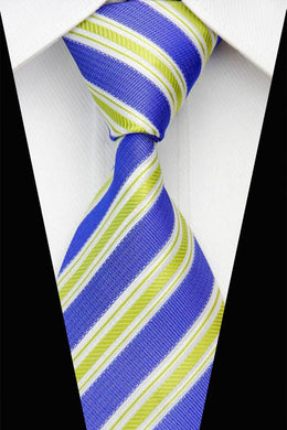 STRIPE TIE | SILK | GREEN | BLUE | GENTS CLOBBER