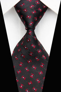 FLORAL TIE | BLACK PATTERN | ALL OVER FLOWERS