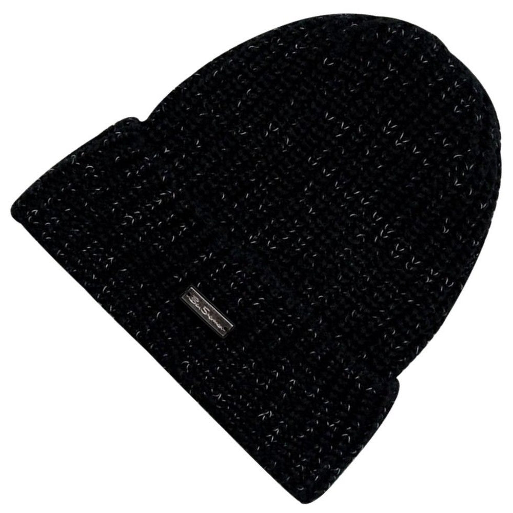 BEN SHERMAN BEANIE | REFLECTIVE HAT | BLACK | GENTS CLOBBER