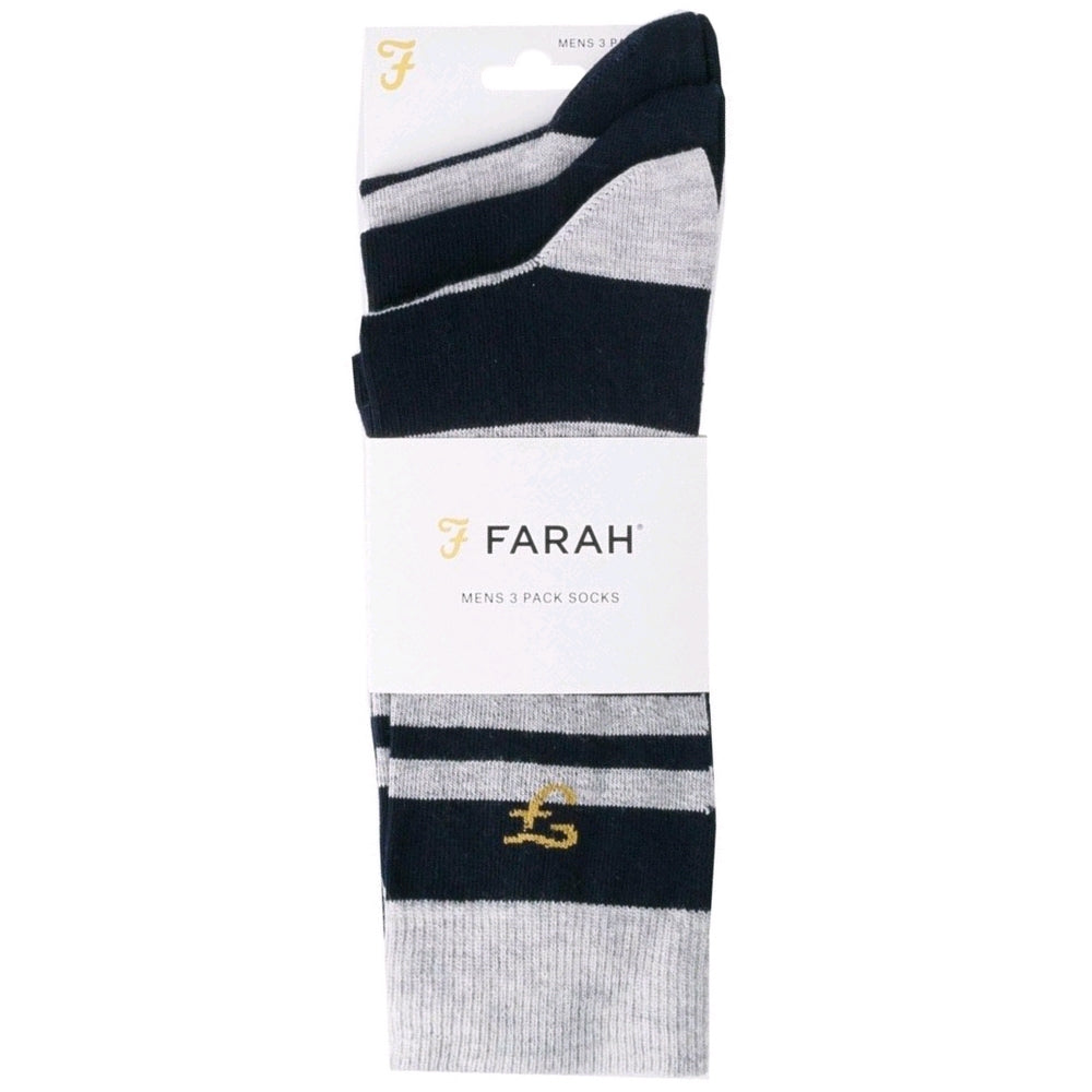 3-Pack, UK 6-11 Mens Socks by Farah