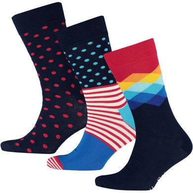 HAPPY SOCKS | 3 PACK | GENTS CLOBBER
