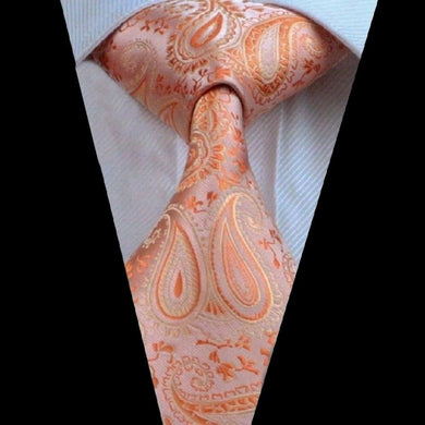 ORANGE FLORAL TIE | SILK | GENTS CLOBBER