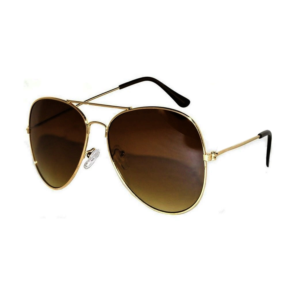 AVIATOR SUNGLASSES | BROWN | GENTS CLOBBER