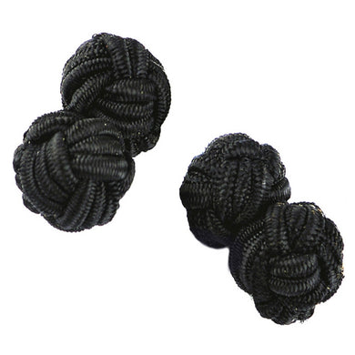 KNOT CUFFLINKS | BLACK OVAL | GENTS CLOBBER