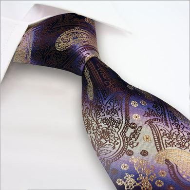 SILK TIE | PAISLEY | PURPLE | GENTS CLOBBER