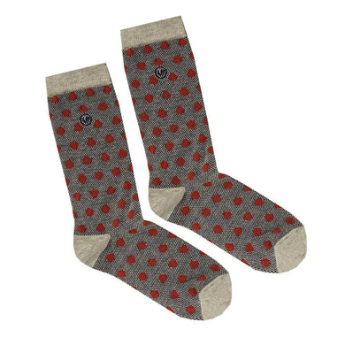 FAT FACE SOCKS | POLKA DOTS | ORANGE
