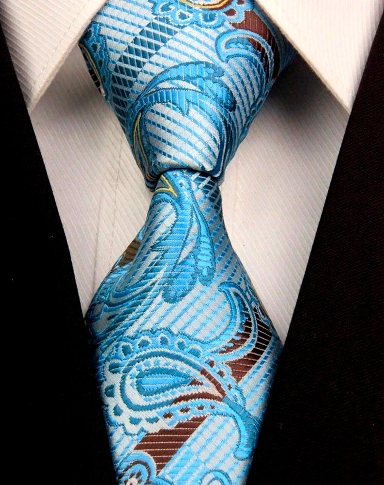 SILK TIE | TURQUOISE BLUE | GENTS CLOBBER