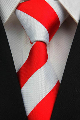COLLEGE TIE | STRIPE | RED | GENTS CLOBBER
