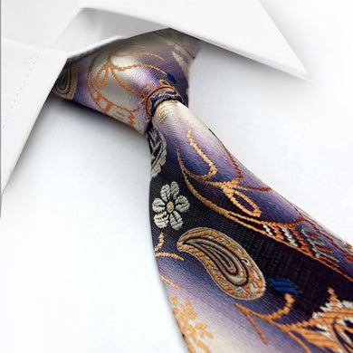 PAISLEY TIE | PURPLE | ORANGE | GENTS CLOBBER