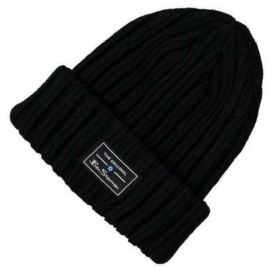 BEN SHERMAN BEANIE | BLACK HAT | GENTS CLOBBER
