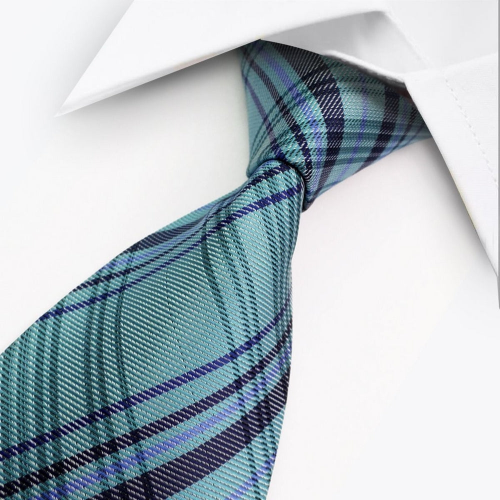 PATTERN STRIPED TIE | BLUE BLACK | GENTS CLOBBER