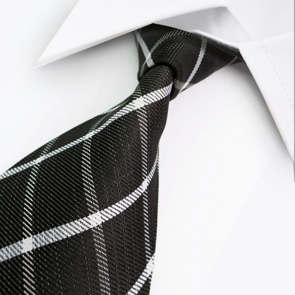BLACK WHITE CHECK TIE | DIAMOND CHECK | GENTS CLOBBER