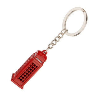 TELEPHONE BOX KEYRING | PHONE BOOTH | GENTS CLOBBER