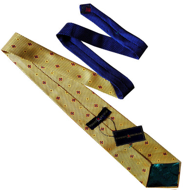 TOMMY HILFIGER YELLOW TIE | PATTERNED TIE | GENTS CLOBBER