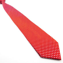 Load image into Gallery viewer, RED WHITE SPOT TIE | POLKA DOT | GENTS CLOBBER