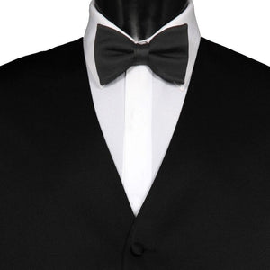 Mens Plain Solid Charcoal Grey Bow Tie | Free UK Shipping | Gents Clobber