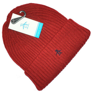aa56c13b57916 Original Penguin Mens Red Ribbed Beanie Hat One Size