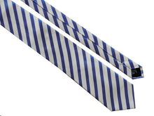 Load image into Gallery viewer, STRIPED TIE | BLUE WHITE | BEN SHERMAN