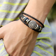 Load image into Gallery viewer, MENS BLACK BRACELET | FREE UK POST | GENTS CLOBBER