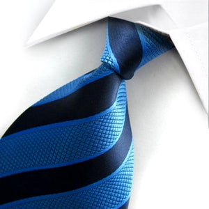 STRIPED TIE | TWO TONE BLUE | SILK TIE