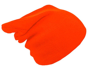 BRIGHT ORANGE BEANIE HAT | GENTS CLOBBER